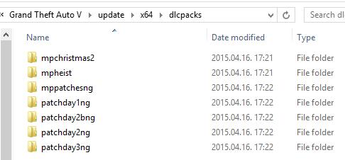 Список необходимых DLC для FiveM